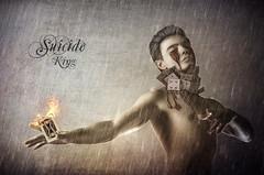 Suicide King (Bella~Rose) Tags: boy rain photomanipulation photoshop cards fire sad suicide emotional