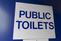 147. Pennan Public Toilets a 'Local Hero'. (GraynKirst) Tags: door blue ladies sign scotland aberdeenshire text toilet signboard gents convenience necessity localhero publictoilets pennan