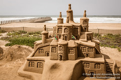 Sand Art on Durban Beach Front, South Africa
