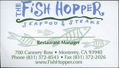 ephemera - The Fish Hopper business card (Jassy-50) Tags: california restaurant monterey ephemera card businesscard fishhopper fishhopperrestaurant