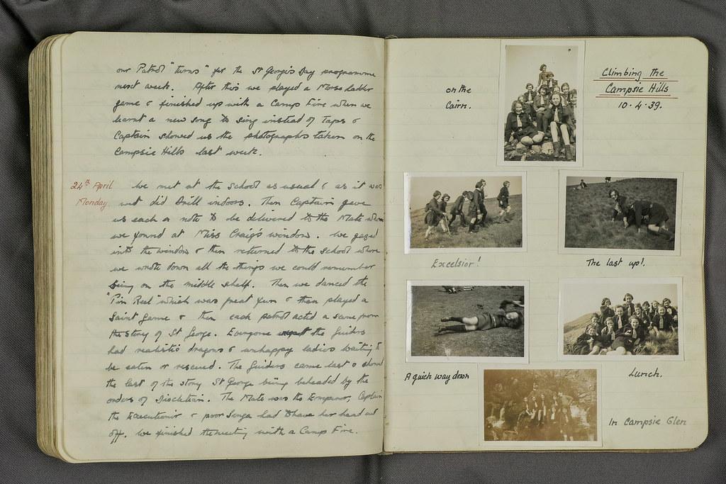 Torrance - Sheena Pirie Girl Guides Log Book -Campsies walk