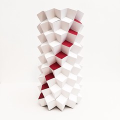 Slash (mike.tanis) Tags: tower art architecture paper design origami structure kirigami column cubes weaving maquette