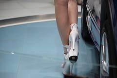 VW Hostess (carlotorinese) Tags: auto show sexy feet japan tokyo high shoes toes heels motor hostess pantyhose japon giappone nylon