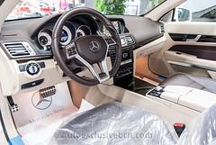 Mercedes-Benz Clase E 250 Cabrio - AMG - 211 c.v - Blanco Diamante - Piel Marrón Espresso / Beige