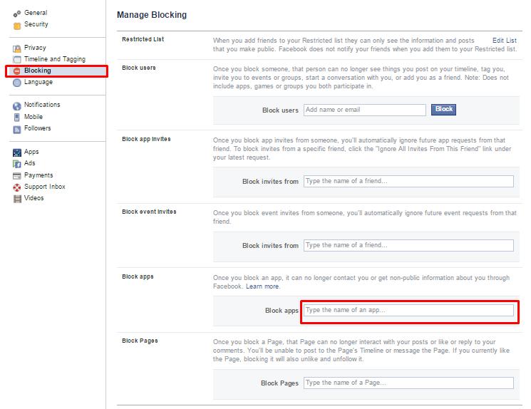 វិធីសាស្រ្តក្នុងការ Block ចោលហ្គេមណាមួយ កុំអោយគេផ្ញើរ Requests មកកាន់គណនី Facebook យើង