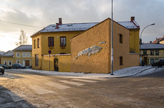 Police station (1878 - 1904) (AstridWestvang) Tags: building oslo snow street