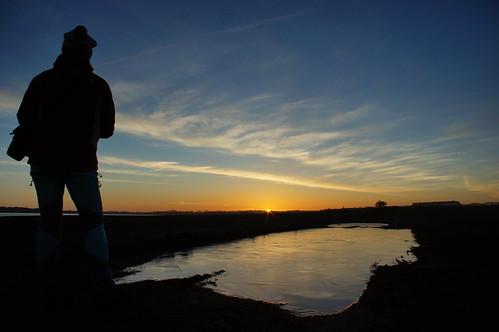 Underway to photgraph Sunrise / Unterwegs, um den Sonnenaufgang zu fotografieren