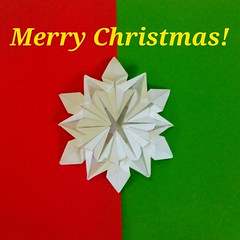 Merry Christmas everyone. Best wishes to all your family, friends and loved ones. (mimansaorigami) Tags: origami star christmas snowflake symmetry paperfolding