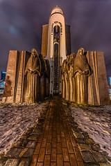 Island of Tears Monument (martintimmann) Tags: lights night minsk availablelight belarus monument islandoftears sculpture longexposure lenstagger 12mm