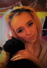 Me and Blacky (chloenicola12) Tags: adorable cuteanimals cats blackcats cute cutecats beautifulanimals loveher girl blondehair makeup headband