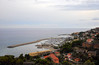 San Lorenzo al Mare Italy (Vee living life to the full) Tags: italy france french italian riviera leger travel touring holiday nikond300 sea clouds road bridge tunnel traffic cars marina port harbour pier drainage channel overgrown houses estate community