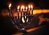 Though Darkness Fall... (miss.interpretations) Tags: hanukkah christmas seasonal chanukah faith love hope miracles menorah bokeh candles flame light lit wax outside night evening alone thoughts patio balcony deck castlerock colorado december anniversary loss holiday hanukkiyah helios
