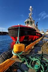 """""""Boa Balder"""" docked in Haugesund/Norway (Vest der ute) Tags: g7x norway rogaland haugesund boat quay bluesky"""