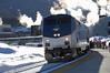 """First run of the """"new"""" Ski Train (Moffat Road) Tags: amtrak winterparkexpress skitrain passengertrain ge p42dc 196 upmoffattunnelsubdivision moffattunnelsub winterpark colorado train railroad locomotive cold snow co"""