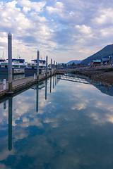 Seward Marina - Alaska (photowarrington) Tags: alaska seward marine usa us boat holiday blue cloud reflection abstract pleasure recreation