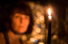 """""""Let no man pull you low enough to hate him."""" -- Martin Luther King Jr. (auntneecey) Tags: candle blur bokeh me letnomanpullyoulowenoughtohatehim quote hope love odc lighter 365the2017edition 3652017 day31365 31jan17"""