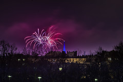 _MG_5224 WOSP 2017. (Sakuto) Tags: fireworks light night city poznan wosp landscape tower blue colors outdoor colorful poland sky