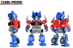 1. Chibi-Prime Bot Views (Sam.C MOCs (S2 Studios)) Tags: lego transformers optimus prime chibi moc mech robot anime scifi car truck