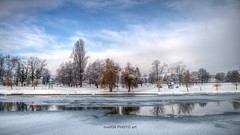 The beach in winter (malioli) Tags: cold coldness winter frizen frost snow sky clouds river water hdr hdri image photo photography riversidemkorana karlovac croatia hrvatska europe canon