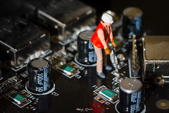#Contraption #demolition (graser.robert) Tags: 90mm artist germany macro macromondays mini miniatur nikond7100 robertgraser tamron construction contraption demolition electronic miniature photographer platine work worker