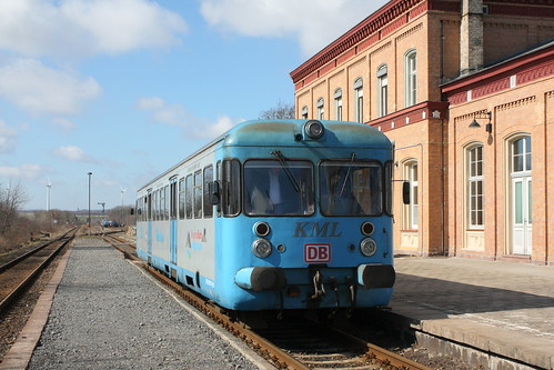 KML VT 408 der Kreisbahn Mansfelder Land in Klostermansfeld