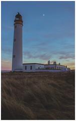 Barns Ness Lighthouse at Sunset-2 (Gordon_Farquhar) Tags: dunbar west barns beach lothian ness lighthouse torness power station scotland scottish east coast