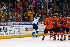 "Missouri Mavericks vs. Wichita Thunder, February 3, 2017, Silverstein Eye Centers Arena, Independence, Missouri.  Photo: John Howe / Howe Creative Photography • <a style=""font-size:0.8em;"" href=""http://www.flickr.com/photos/134016632@N02/32561322352/"" target=""_blank"">View on Flickr</a>"