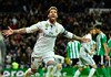 Victory for Madrid moves Real two points clear of Barcelona and with a game in hand still to come (BennyCapricorn) Tags: barcelona laliga realbetis realmadrid sergioramos
