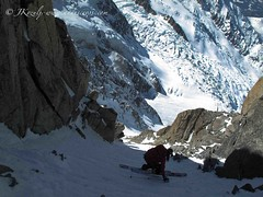 kim havell on cosmique couloir, Chamonix