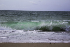 GreenShore (tiki.thing) Tags: ireland wexford beach ocean shoreline coast sea seaside wave green sand water seafoam