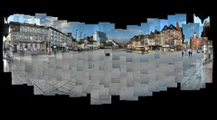 Nottingham Old Market Square Photomontage (ldjldj) Tags: old city nottingham square market centre photomontage hockney joiner panograph