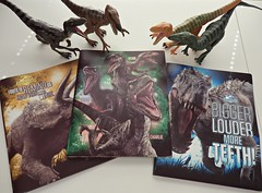 Jurassic World folders! (janetsaw) Tags: blue movie toy dinosaur action echo delta charlie raptor figure merchandise squad stationery folder velociraptor jurassicworld