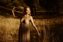 Gold (SkylerBrown) Tags: light woman girl beautiful fashion female gold golden evening warm pretty shadows dress gorgeous isabelchapman