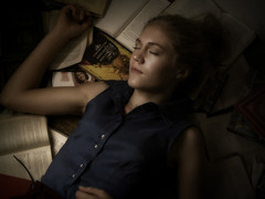 Other worlds 3 (svetlanaephimenko) Tags: portrait girl face book sleep books