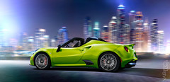 Alfa Romeo 4C Lime (Nike_747) Tags: auto city blue red italy white motion black color green car sport night gold spider lemon italian purple 4 super class gas exotic rig alfa romeo hyper nitro lime carbon straight typo limited edition rosso luxury rare coupe supercar nos flares carrara sportscar turbocharged roadster reflects fibre 4c 960 competizione hypercar tricoat naksphotographydsign