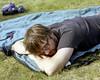 Nature Nap (Patrick J. McCormack) Tags: camping portrait 120 mamiya film mike nap kodak portra rz67