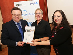 Geraldine Bush from Hollybush House at the WorldHost Celebration and Certificate Presentation