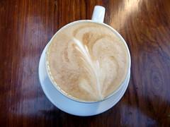 Latte art, Big Sur Bakery (duncan) Tags: coffee bigsur caffelatte latte latteart pacificcoasthighway