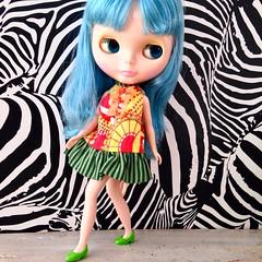 transformation: cheap Barbie skirt into a MOD - Blythe dress <3 (LAT_te) Tags: carnival love vintage mod doll dress candy handmade sewing barbie skirt blythe recycle takara mattel