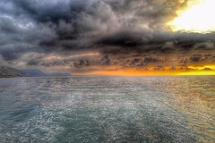 Machlud Cei Newydd (Charliebubbles) Tags: sunset newquay iphone6 snapseed ermol6