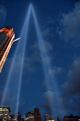 Picture Of Ground Zero Light Beams. Photo Taken Friday September 11, 2015 (ses7) Tags: light 911 ground zero beams