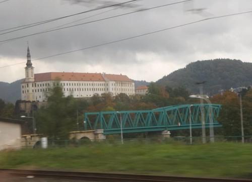 Hour #3 on the train: Děčín