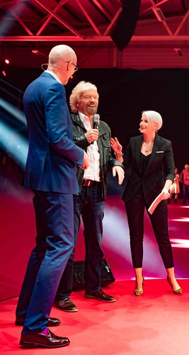 RICHARD BRANSON LAUNCHES VIRGIN MEDIA AT THE RDS [UPC REBRANDED AS VIRGIN]REF--10858494