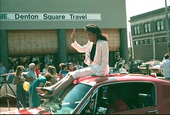 North Texas Homecoming Parade, 1987 (Alec Williams Photo Collection) Tags: square university downtown texas 1987 north homecoming denton unt