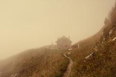 Autumnal Mist (oliko2) Tags: autumn house mist mountain landscape switzerland path rochersdenaye nikond7100