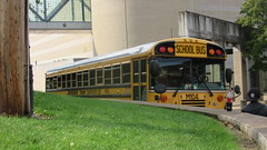 Monark Bus M104 (Etienne Luu) Tags: blue bird student all corporation american transportation a3 fe monark m104 m204