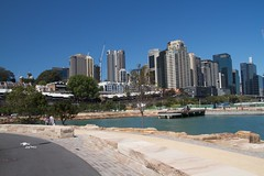and a new cityscape (Val in Sydney) Tags: park sydney reserve australia nsw australie barangaroo
