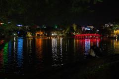 Rendez-vous (sosivov) Tags: lake reflection night evening vietnam hanoi