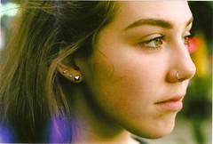 between the bars (RyleyK) Tags: portrait canada film beautiful sarah vancouver 50mm friend colours teen 35mmfilm filmisnotdead chemburns
