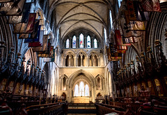 Christ Church Cathedral, Dublin, Ireland (kellyjrusso) Tags: ireland dublin church choir candles cathedral nave knights alter